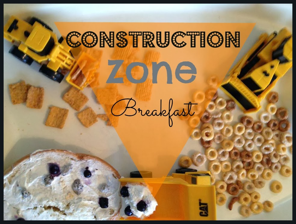 Construction Zone Breakfast | toddler activity