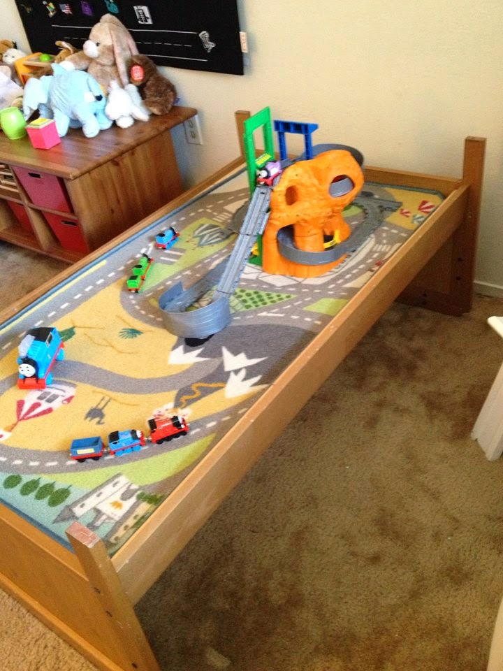Toddler Bed To Train Table Amazing Hack!