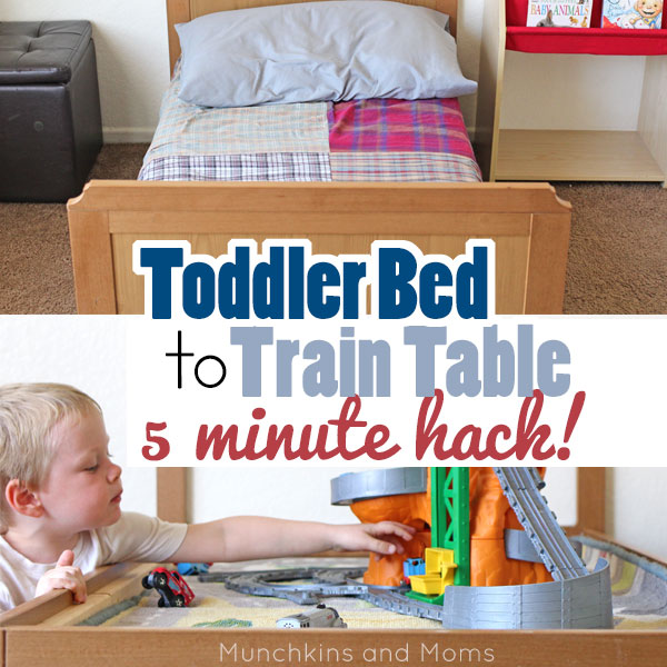 Turn A Toddler Bed Into A Train Table In Less Than 5 Minutes! With This