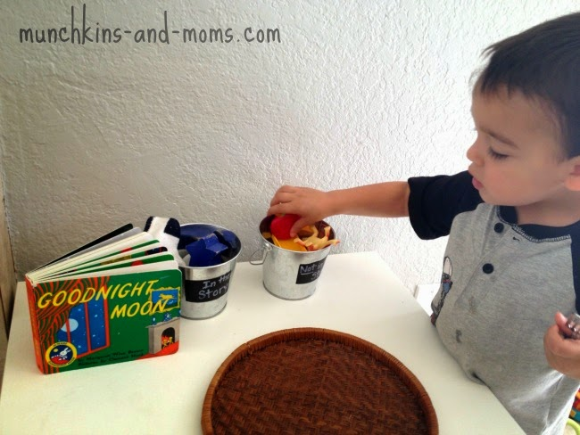 """Preschool literacy activity with the book """"Goodnight Moon"""""""