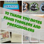 10 Thank You Cards from Toddlers and Preschoolers