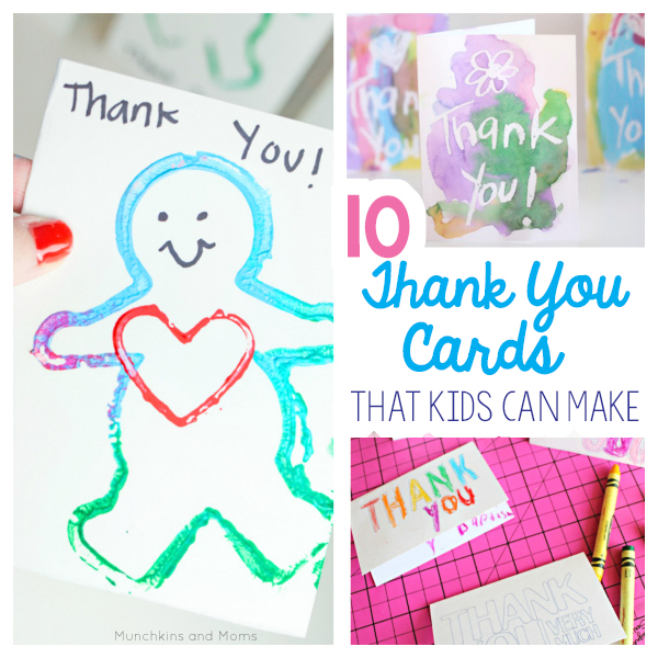 Thank You Cards From Toddlers And Preschoolers  Munchkins And Moms