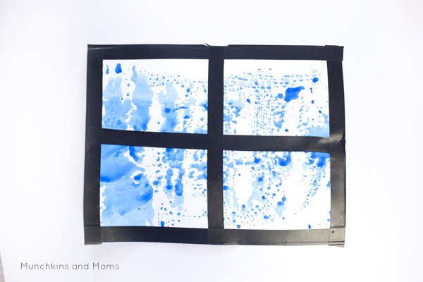 Rainy day? Set up a quick art project for your kids! This is a great activity to do with the preschoolers in spring.