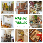 Homeschooling in Small Spaces: Nature Tables