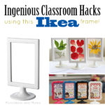 Ikea hack: Tolsby frames in the classroom and homeschool