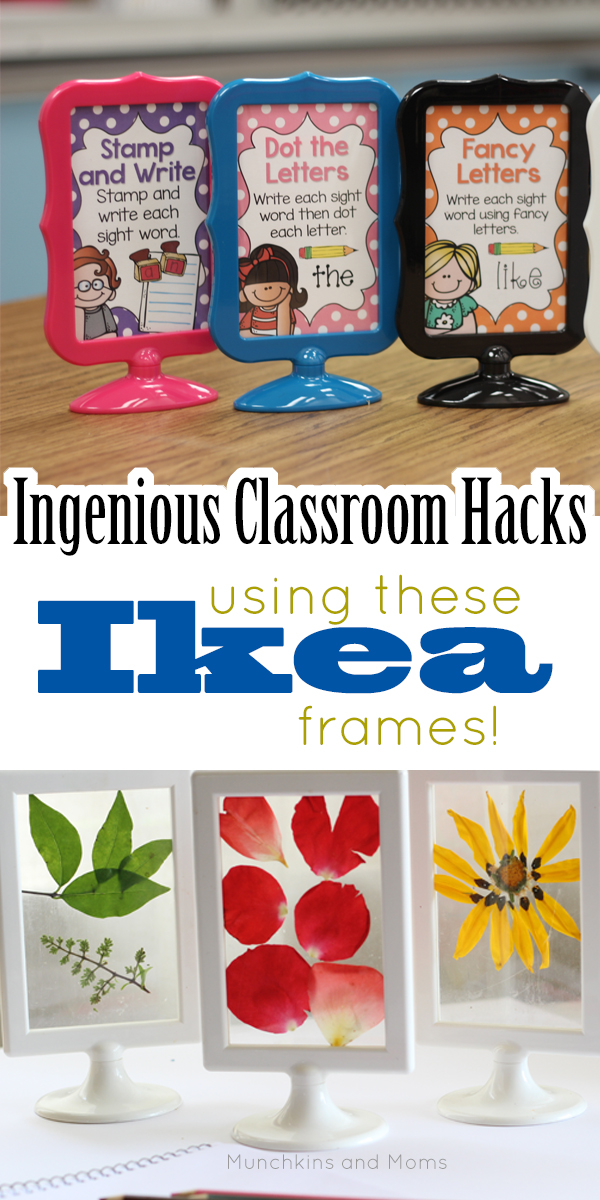 Classroom Decor Hacks ~ Ikea hack tolsby frames in the classroom and homeschool