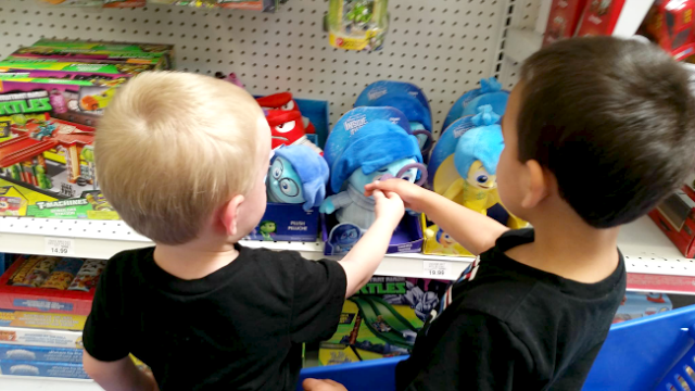 Using Inside Out plush toys for emotional education