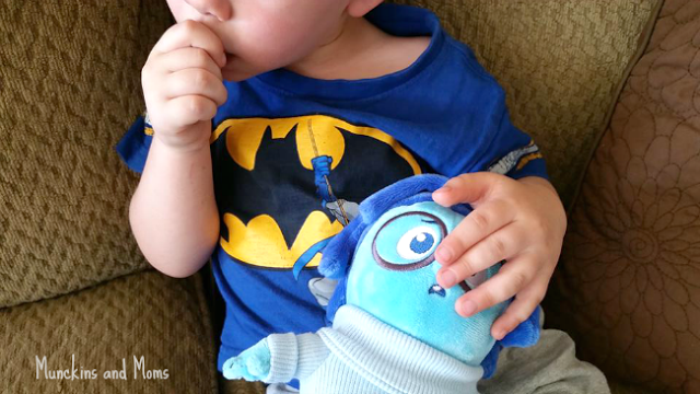 Discussing emotions with Inside Out toys