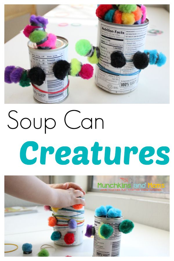Silly soup can creations with preschoolers are a simple and fun activity!