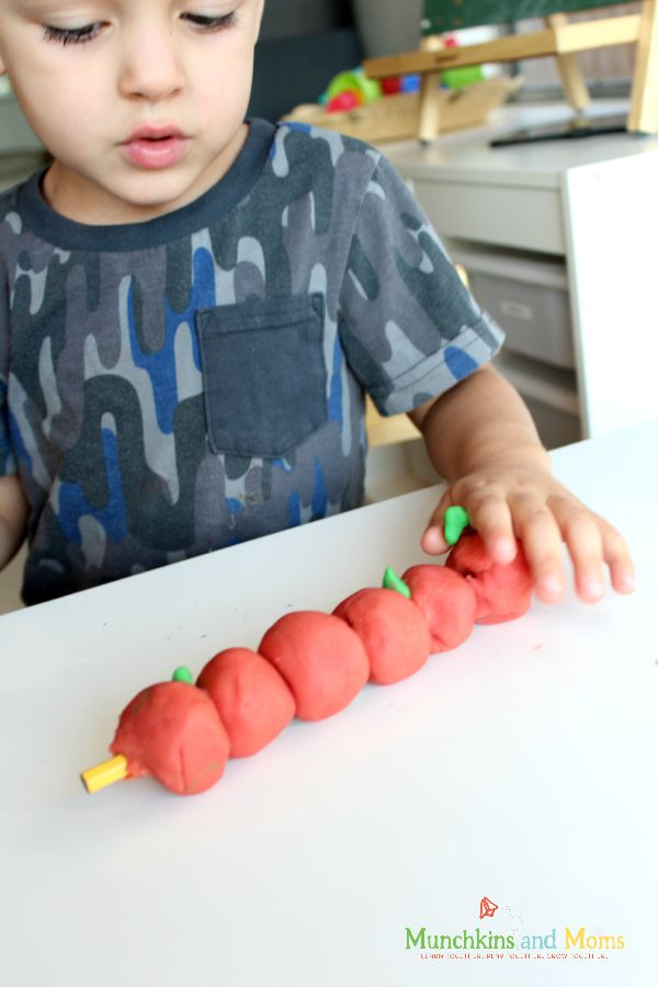 10 apples up on top activity for preschoolers