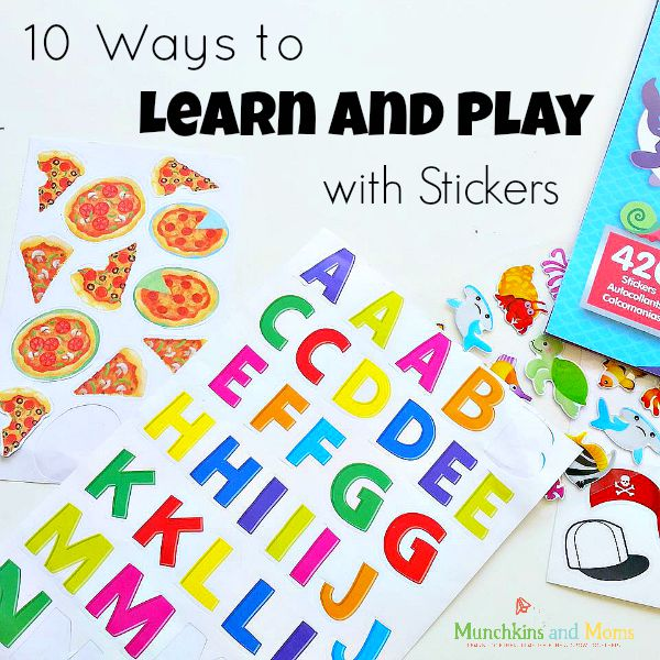10 ways to learn and play with sickers