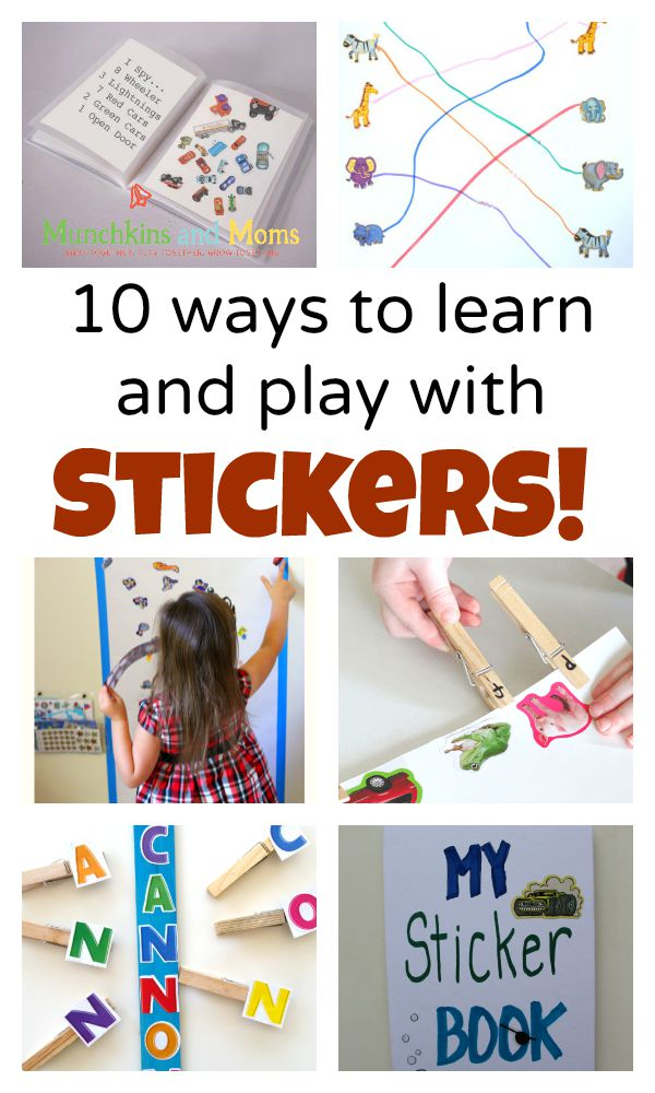 Preschoolers love stickers! Here are 10 ways to use them in playful learning activities!