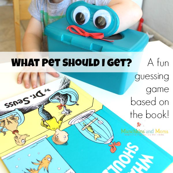 "A fun guessing game activit to go along with the new Dr. Seuss book ""What Pet Should I Get?"""