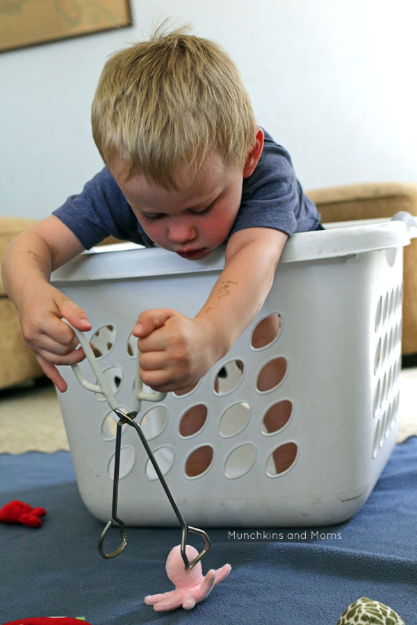 Go fishing right in your living room! This is such a fun activity for toddlers this summer!