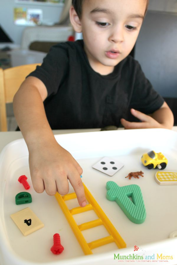 I Spy Numbers preschool activity