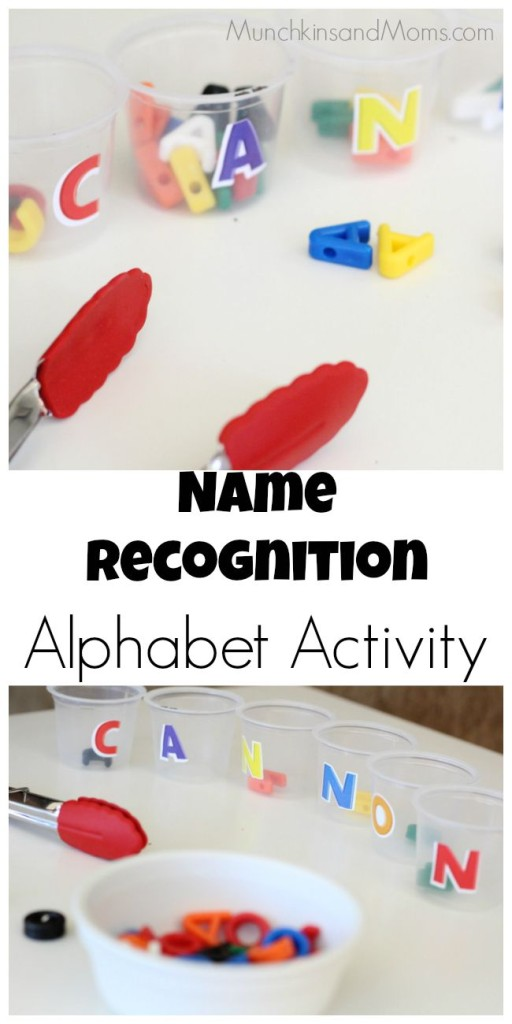 Name recognition alphabet activity for preschoolers