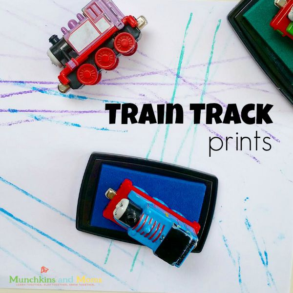Make simple train track prints for littel engineers!