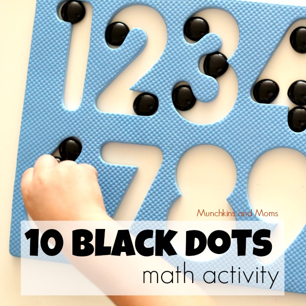 10 black dots math activity for preschoolers