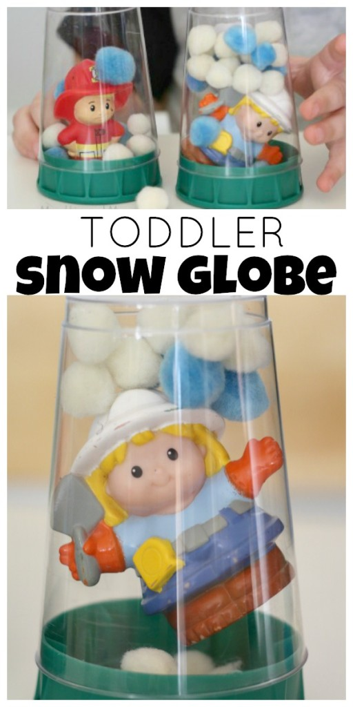 The cutest toddler snow globe craft!!