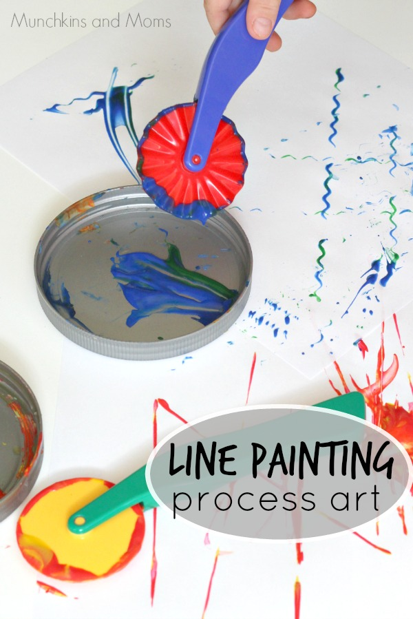 Line Painting Process Art- fun preschool activity
