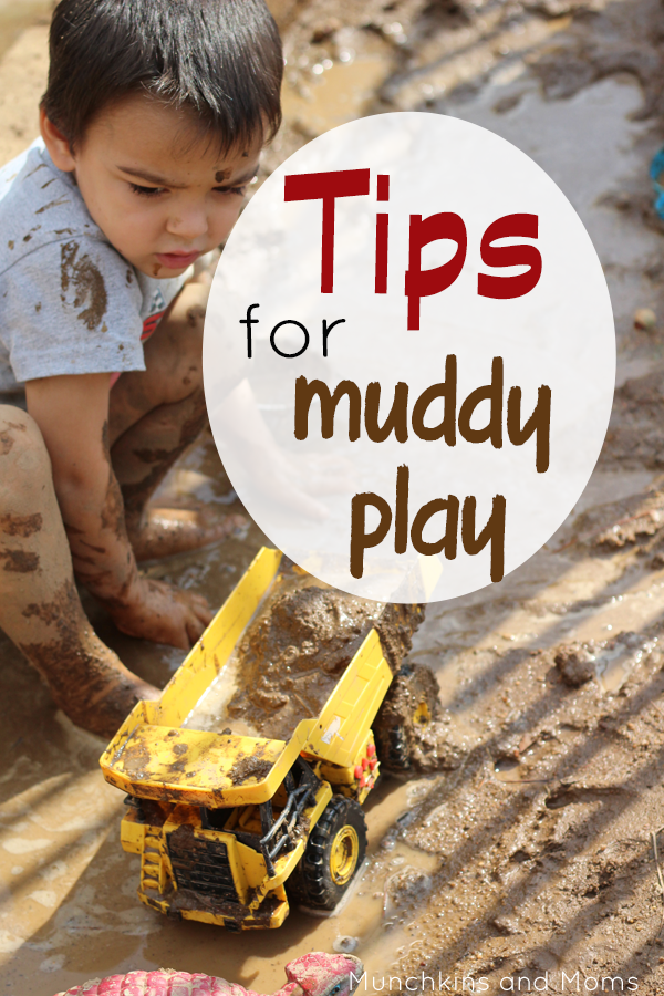 Tips for playing in the mud with kids