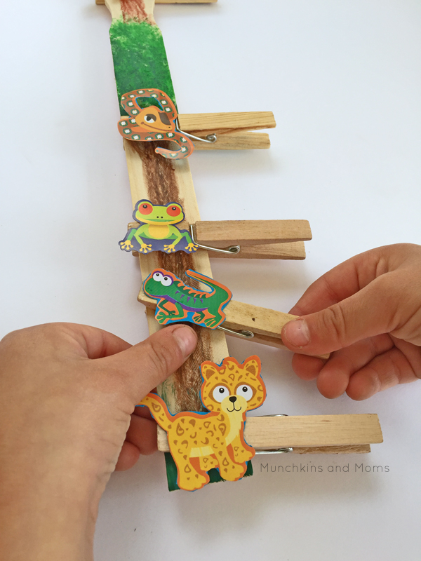 Rainforest Fine Motor Activity Munchkins And Moms