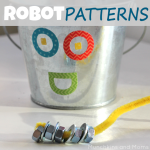 Robot Patterns Preschool Activity