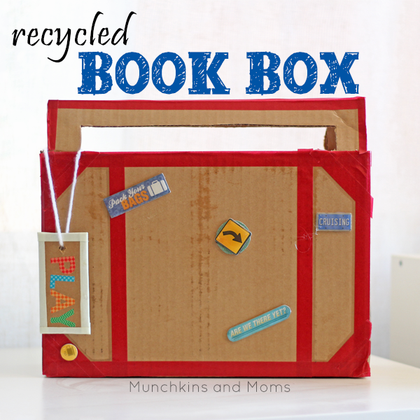 "Preschool Book Box- What a great way to make book boxes for preschool and kindergarten students! Pairs perfectlywith our ""Books take you places"" theme."