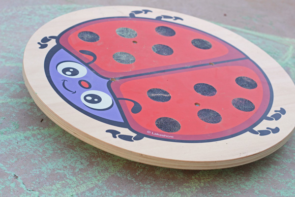 Ladybug balance board