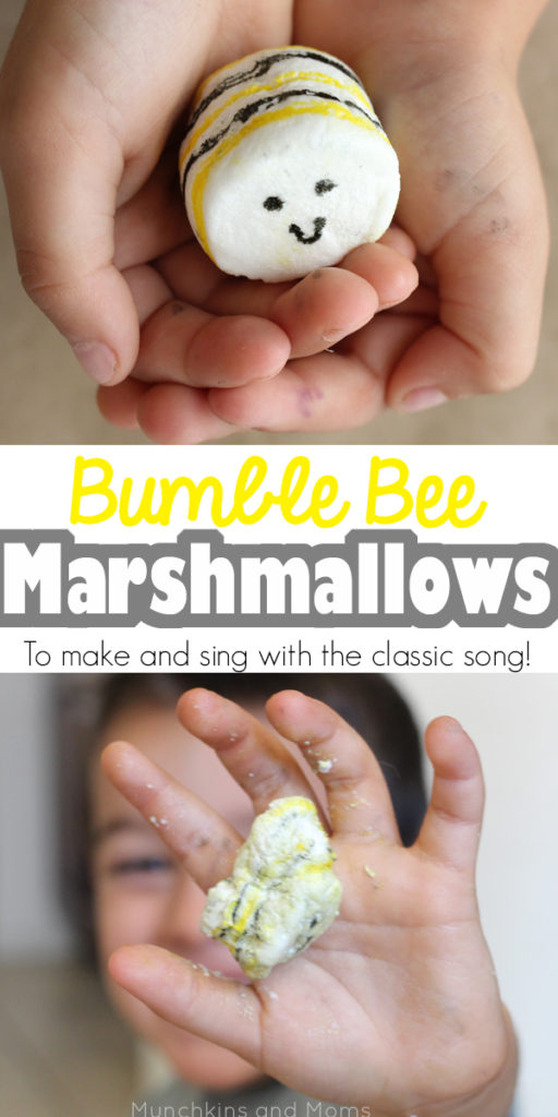 """I'm bringing home a baby bumblebee..."" A fun activity to go with the classic preschool song! (this would be a great campfire song and activity too!)"