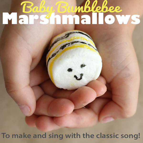 """I'm bringing home a baby bumblebee..."" This classic preschool song has always been a he hit! Kids will love this marshmallow component!"