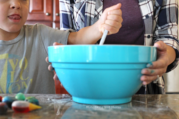 No need to ever buy another can of store play dough again- this recipe gets it right!