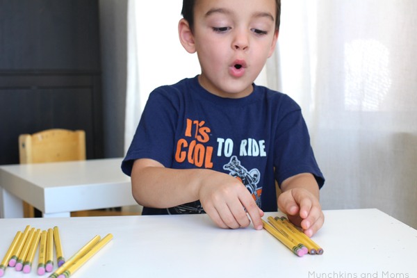 Use pencils as a math manipulative! Great back to school math activity to learn tally marks.