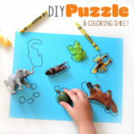 DIY Puzzles and Coloring Sheet