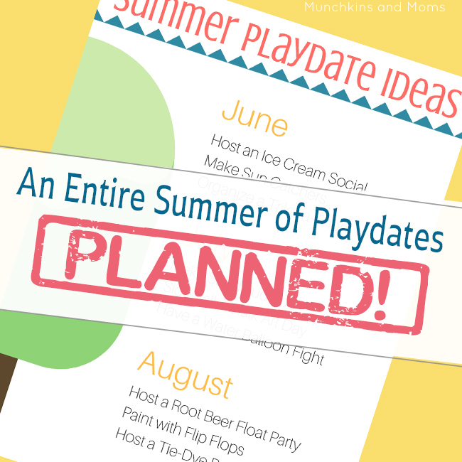 This list makes is super easy to plan summer playdates! Great option to get the kids together with their friends over summer.