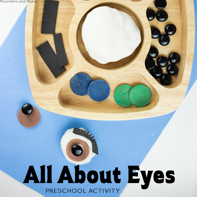 "All About Eyes- a preschool invitation to learn and play. This is perfect for an ""All About Me"" theme in September!"