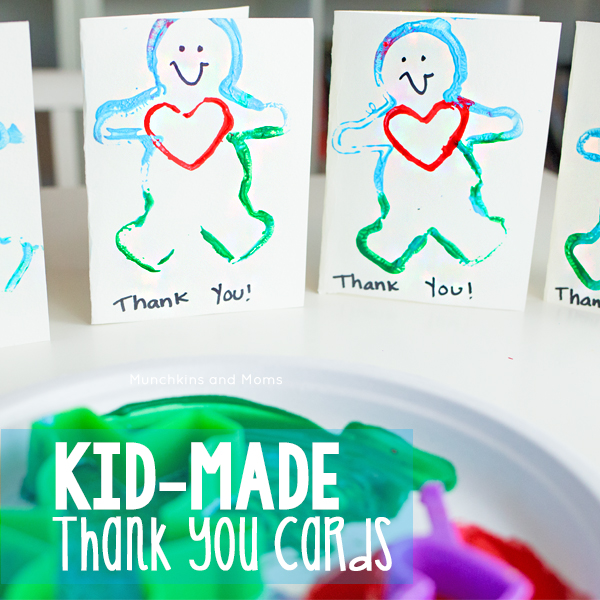 10 Thank You Cards From Toddlers And Preschoolers Munchkins And Moms
